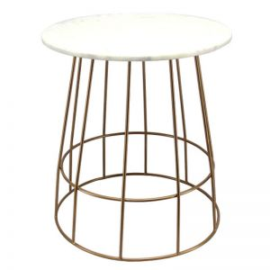 Venus Side Table with Marble Table Top by SATARA
