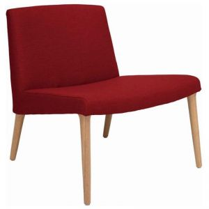 Venza Lounge Chair In Crimson