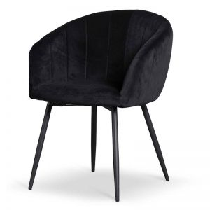 Vern Dining Chair | Black Velvet