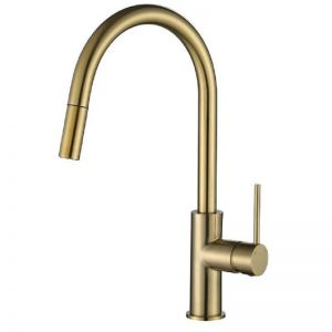 Vibe Brushed Gold  Pull Out Kitchen Mixer