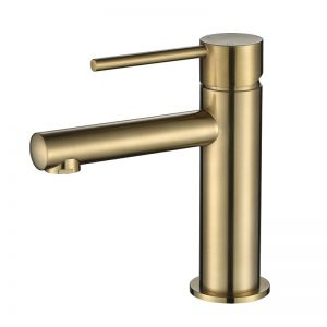Vibe Brushed Gold Slim Basin Mixer