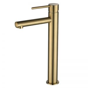 Vibe Brushed Gold Slim Extended Basin Mixer