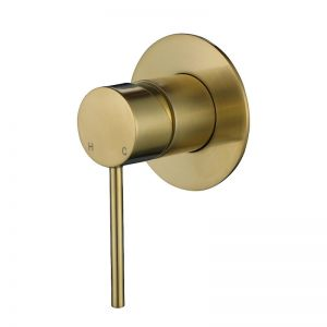 Vibe Brushed Gold  Slim Shower Mixer