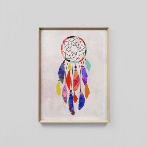 Vibrant Dreamcatcher   Framed Print