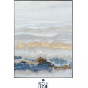 Vibrant Horizons II | Canvas | Antique Silver Frame