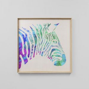 Vibrant Zebra | Light | Framed Print