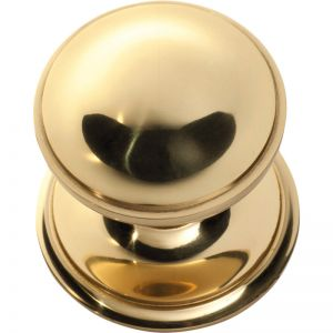 Victorian Centre Door Knob | Polished Brass | Schots