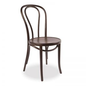 Vienna 18 Bentwood Chair Embossed Seat | Walnut