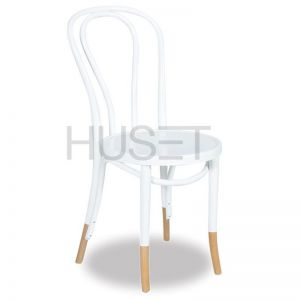 Vienna 18 Bentwood Chair Embossed Seat | White with Socks