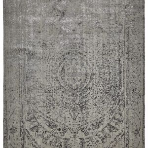 Vienna Rose Wool Rug | Grey