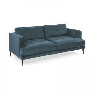 VINNY Sofa in Teal Velvet