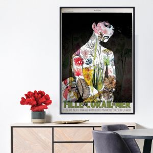Vintage Coral Sea Poster  |  Signed Artist's Print or Print on Canvas