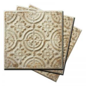 Vintage Design 1 Pressed Metal Panels | Antique White