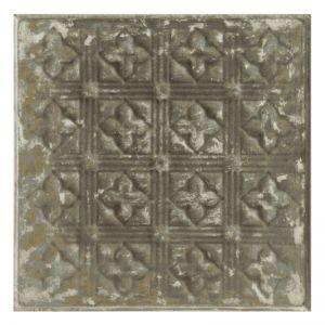 Vintage Design 15   Pressed Metal Panel   Zinc White Wash