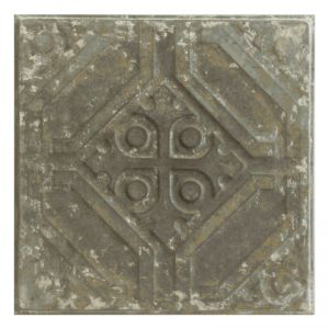 Vintage Design 3   Pressed Metal Panel   Zinc White Wash