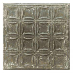 Vintage Design 4   Pressed Metal Panel   Zinc White Wash