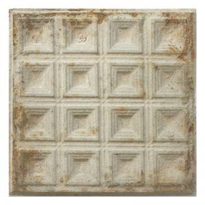 Vintage Design 6   Pressed Metal Panel   Antique White