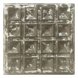Vintage Design 6   Pressed Metal Panel   Zinc White Wash