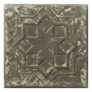 Vintage Design 7   Pressed Metal Panel   Zinc White Wash