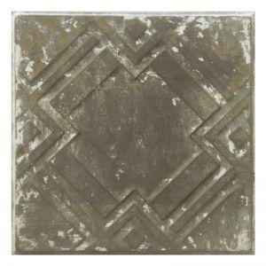 Vintage Design 8   Pressed Metal Panel   Zinc White Wash