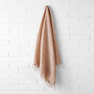 Vintage Linen Fringe Throw | Clay by Aura Home