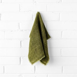 Vintage Linen Napkins Set of 4 | Olive by Aura Home