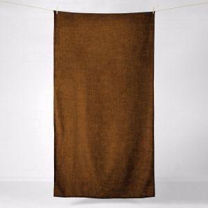 Vintage Linen Tablecloth | Tobacco | by Aura Home
