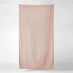 Vintage Linen Throw or Tablecloth | Clay by Aura Home