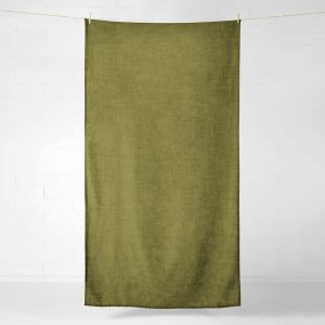 Vintage Linen Throw/Tablecloth | Olive by Aura Home