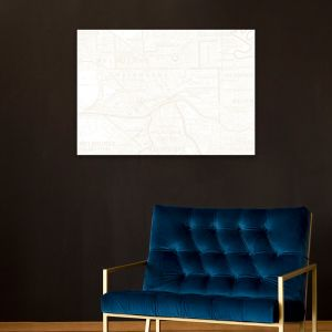 Vintage Melbourne Map - Gold | Stretched Canvas | Printed Panel