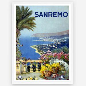 Vintage Sanremo 1950's Travel | Wall Art