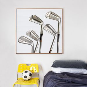 Vintage Signature Golf Clubs Canvas