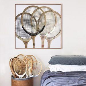 Vintage Squash Racquets Canvas