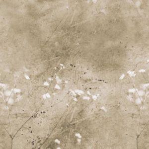 Vintage Summer Floral Mural - Sand