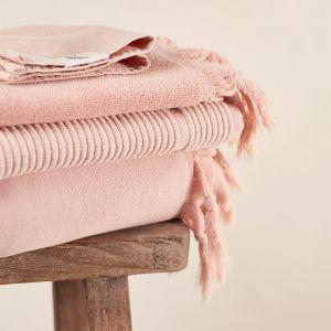 Vintage Wash Cotton Bath Sheet   Dusty Pink