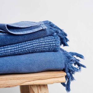Vintage Wash Cotton Bath Sheet | Storm Blue