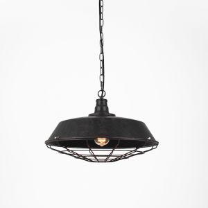 Vintage Wire Steel Pendant | Rustic & Black