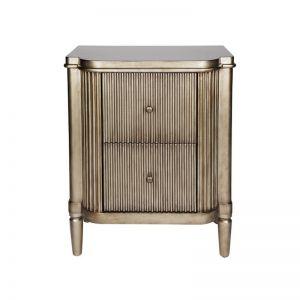 Viola Bedside Table | Antique Gold