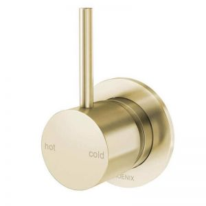 Vivid Slimline Up Shower-Wall Mixer | Brushed Gold