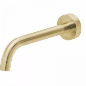 Vivid Slimline Wall Bath Outlet Curved | Brushed Gold