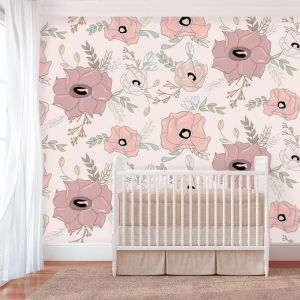 Vivienne Grande Cream Wallpaper