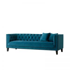 Vogue 3 Seater Sofa | Velvet | Teal