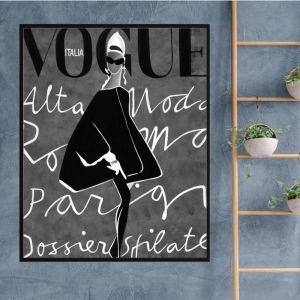 Vogue Dress | Framed Canvas Print | Colour Clash Studio