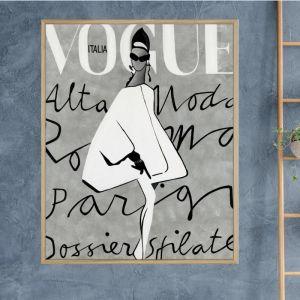 Vogue Dress | Framed Canvas Print |Colour Clash Studio