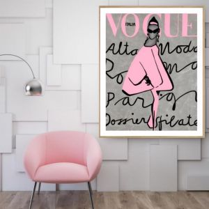 Vogue Dress | P2004 Pink | Framed Print | Colour Clash Studio