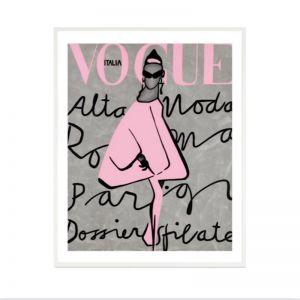 Vogue Dress Pale Pink / Framed Print / P2004 Pale Pink / Colour Clash Studio
