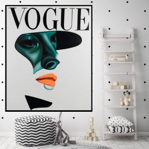 Vogue Shadow | Hand Painted Canvas | 2016 Orange Framed by Colour Clash Studio