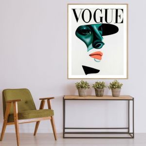 Vogue Shadow | P2016 Orange | Framed Print | Colour Clash Studio