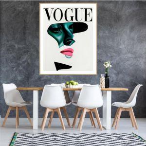 Vogue Shadow | P2016 Pink | Framed Print | Colour Clash Studio