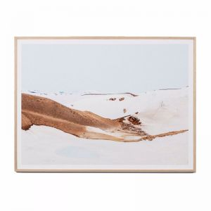 Volcanic Snow | Framed Art Print